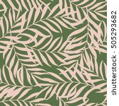 seamless pattern with hand... | Shutterstock .eps vector #505293682