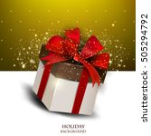 elegant background with gift.... | Shutterstock .eps vector #505294792