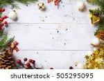 christmas holidays background... | Shutterstock . vector #505295095