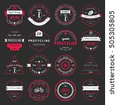 set of badges and logos cycling.... | Shutterstock . vector #505305805