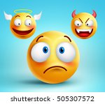 funny smiley vector character... | Shutterstock .eps vector #505307572