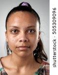 portrait of real hispanic woman ... | Shutterstock . vector #505309096