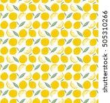 fruit seamless pattern. lemon... | Shutterstock .eps vector #505310266