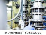 industry large pipe pump for... | Shutterstock . vector #505312792