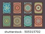 collection retro cards. ethnic... | Shutterstock .eps vector #505315702