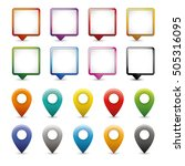 10 mapping pin icon pointer...