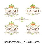 set of vector vintage flourish... | Shutterstock .eps vector #505316596