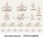 set of coffee logo and design... | Shutterstock .eps vector #505316806