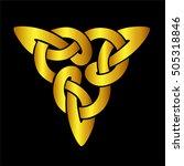 vector template celtic knot for ... | Shutterstock .eps vector #505318846