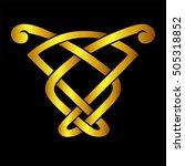 vector template celtic knot for ... | Shutterstock .eps vector #505318852