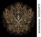 hand drawn beautiful artwork of ... | Shutterstock .eps vector #505324975