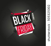 black friday sale sticker or...   Shutterstock .eps vector #505325302