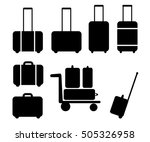 set of suitcase icon | Shutterstock .eps vector #505326958