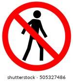 no walking traffic sign.... | Shutterstock .eps vector #505327486