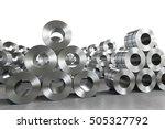 3d rendering roll of steel...   Shutterstock . vector #505327792