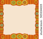 ethnic hand painted square... | Shutterstock .eps vector #505334035