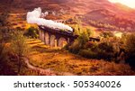 historical steam train is...