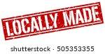 locally made. grunge vintage... | Shutterstock .eps vector #505353355