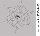 the spider in the web waits for ... | Shutterstock .eps vector #505364698