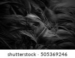 Blur Feather Wool Dark Black...