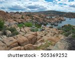 Panorama Of Watson Lake Granit...