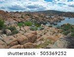 Panorama Of Watson Lake Granit...