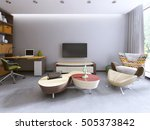 tv unit in a contemporary... | Shutterstock . vector #505373842
