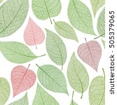 seamless leaf pattern  green... | Shutterstock .eps vector #505379065