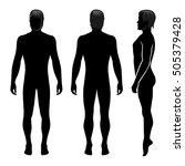 fashion man full length... | Shutterstock . vector #505379428