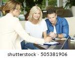 shot of an investment advisor...   Shutterstock . vector #505381906