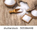 sea salt in the bag and with... | Shutterstock . vector #505386448