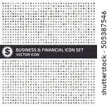 business and finance icon set... | Shutterstock .eps vector #505387546