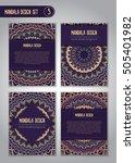 tribal mandala design set.... | Shutterstock .eps vector #505401982