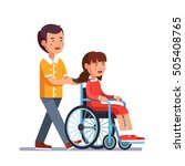 school boy caring about his... | Shutterstock .eps vector #505408765