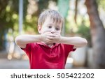 caucasian little 4 year old boy ... | Shutterstock . vector #505422202