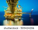 gas platform or rig platform in ... | Shutterstock . vector #505424206