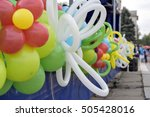 balloons at the festival | Shutterstock . vector #505428016