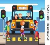 kids boys and girls school... | Shutterstock .eps vector #505431928