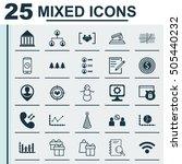 set of 25 universal editable... | Shutterstock .eps vector #505440232