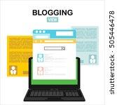 blog website wireframe... | Shutterstock .eps vector #505446478