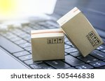 light brown cardboard boxes on... | Shutterstock . vector #505446838