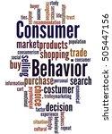 consumer behavior  word cloud... | Shutterstock . vector #505447156
