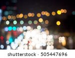 abstract bokeh night garden in... | Shutterstock . vector #505447696