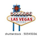 famous welcome to las vegas... | Shutterstock . vector #50545036