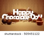 vector illustration of happy... | Shutterstock .eps vector #505451122