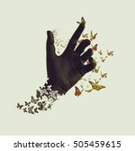 life transformation concept...   Shutterstock . vector #505459615