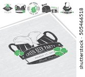 saint patrick's day. luck of... | Shutterstock .eps vector #505466518