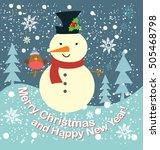 merry christmas | Shutterstock .eps vector #505468798