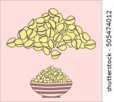 chickpea pile isolated and in a ... | Shutterstock .eps vector #505474012
