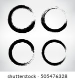 grunge shapes circle frames... | Shutterstock .eps vector #505476328